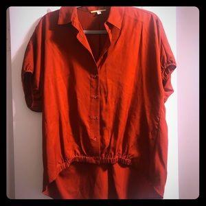 NWOT GB Burnt Orange Crop Top